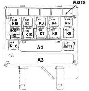 bmw 730 735i 735il 750il e32 1991 fuse box diagram. Black Bedroom Furniture Sets. Home Design Ideas