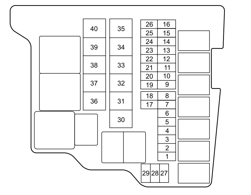 Mazda 2  2012  - Fuse Box Diagram