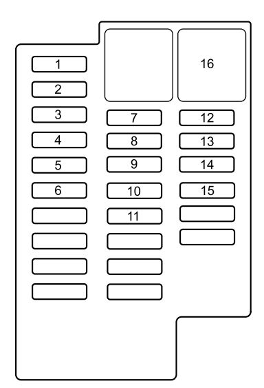 Mazda 2  2011  - Fuse Box Diagram