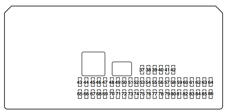 Mazda 3  2004 - 2005  - Fuse Box Diagram