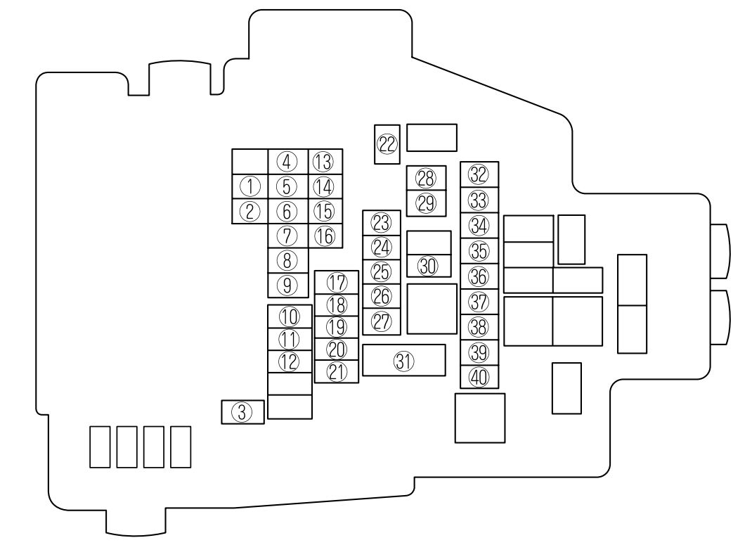 Mazda 6  2009 - 2010  - Fuse Box Diagram
