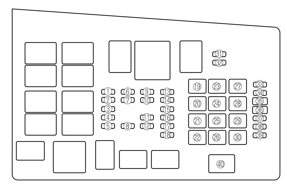 Mazda 6  2006 - 2008  - Fuse Box Diagram