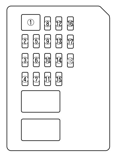 mazda 6  2011 - 2013  - fuse box diagram