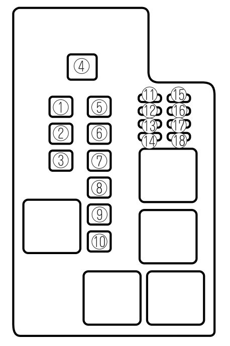 Mazda 626  2002  - Fuse Box Diagram
