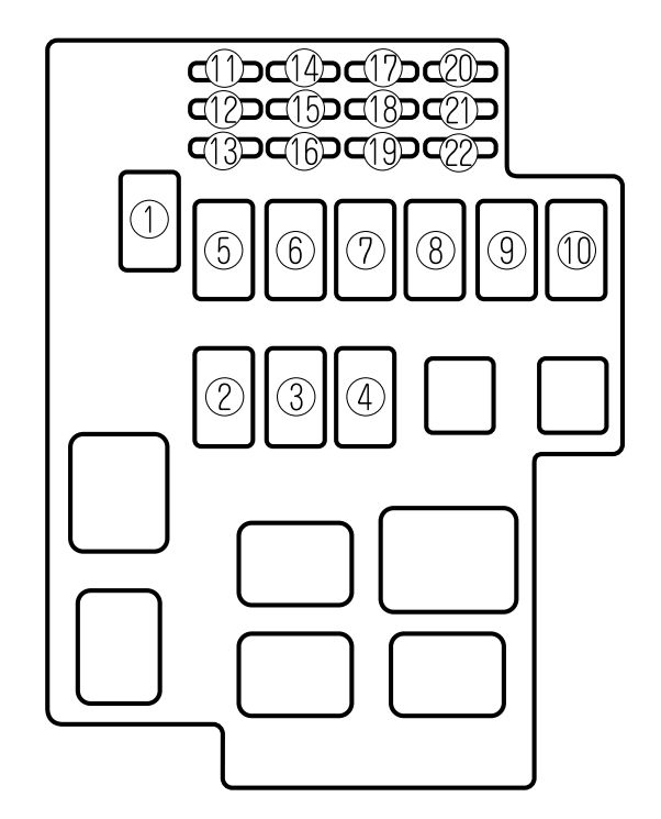 mazda millenia (1995 – 2002) – fuse box diagram