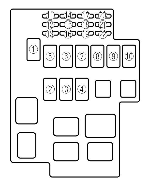 mazda millenia 1995 2002 fuse box diagram auto genius rh autogenius info 1997 Mazda B2300 Fuse Box Diagram 2002 Mazda 626 Fuse Box Diagram
