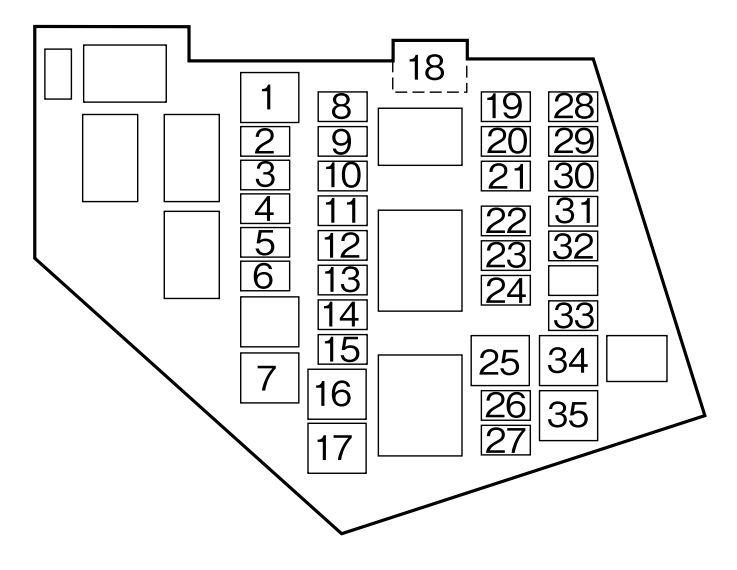 mazda mx-5  2007 - 2009  - fuse box diagram