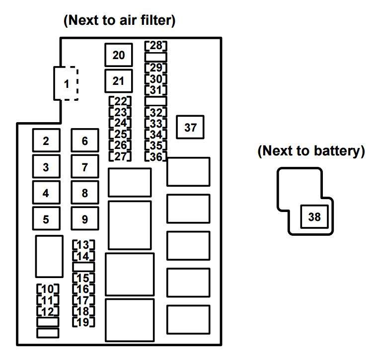 mazda rx-8  2009 - 2010  - fuse box diagram