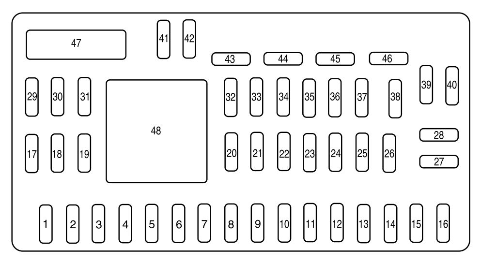 mazda tribute (2008) – fuse box diagram