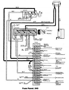 volvo 240  1992  - fuse box diagram