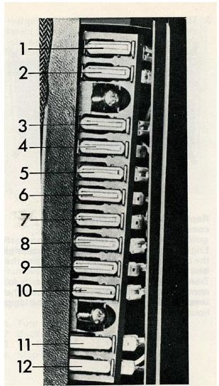 Volvo 240  1975  - Fuse Box Diagram
