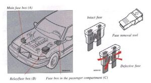 Volvo       S90     1997     1998      fuse box    diagram     Auto Genius
