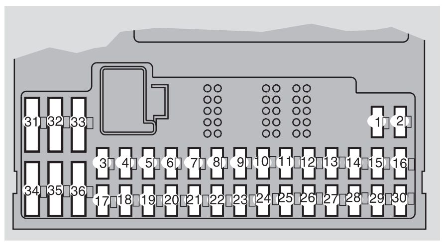 Volvo S60 Mk1  First Generation  2005  - Fuse Box Diagram