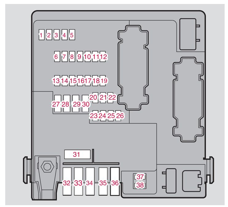 volvo xc90 fuse box cargo compartment 2014 volvo xc90 mk1 (first generation; 2007) fuse box diagram auto xc90 fuse boxes at n-0.co