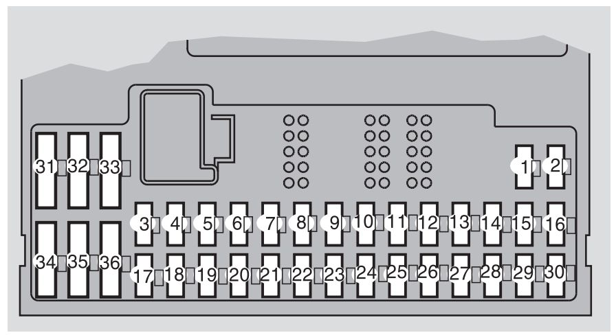 Volvo XC90 mk1 First Generation 2009 fuse box diagram