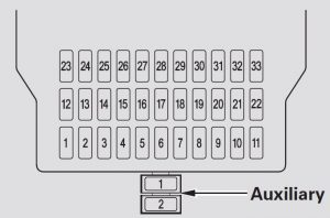 acura mdx 2007 2008 fuse box diagram auto genius. Black Bedroom Furniture Sets. Home Design Ideas