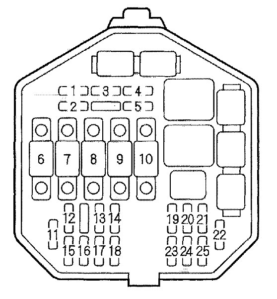acura nsx  2001  - fuse box diagram