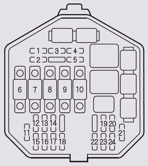 acura nsx  2002 - 2005  - fuse box diagram