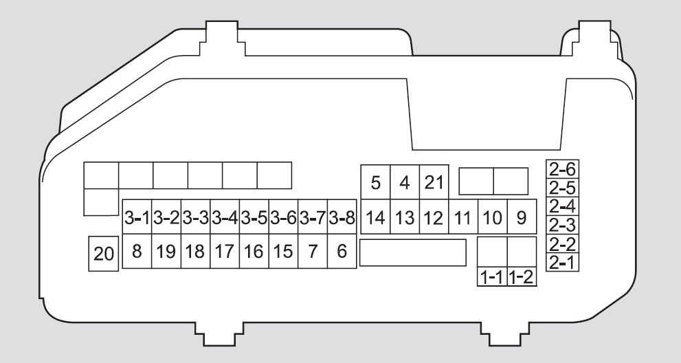 honda accord (2011 – 2012) – fuse box diagram