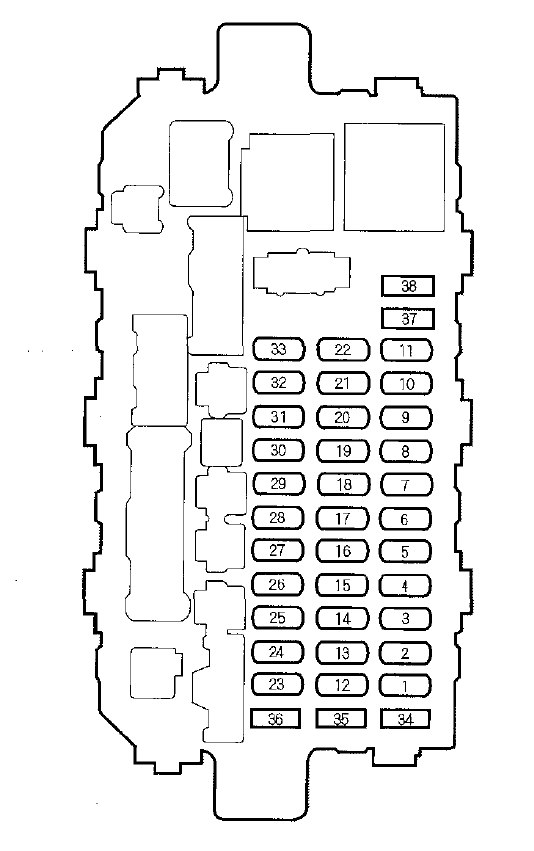 honda cr-v  2000 - 2001  - fuse box diagram
