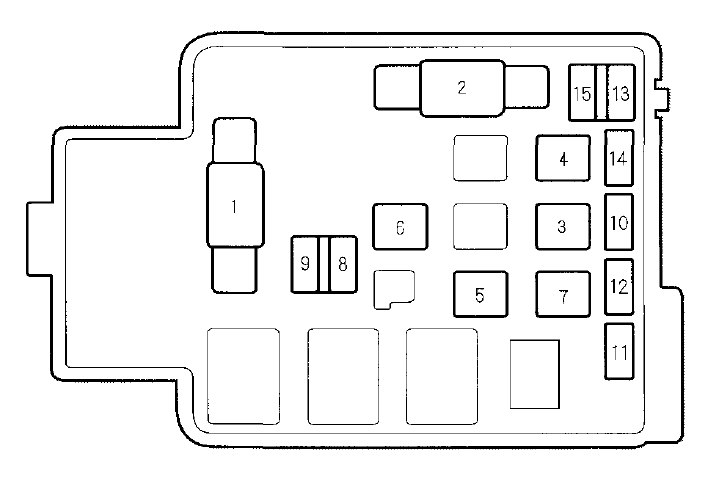honda cr-v (2000 – 2001) – fuse box diagram