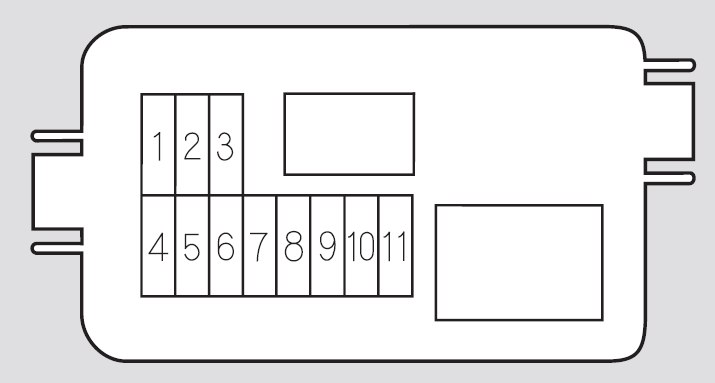 Honda Pilot  2005  - Fuse Box Diagram