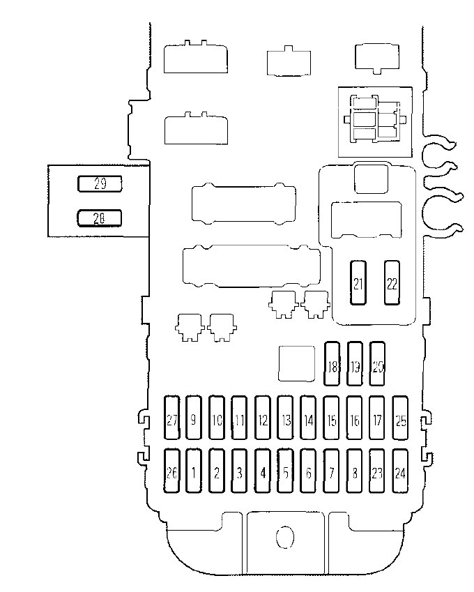 honda prelude  2000  - fuse box diagram