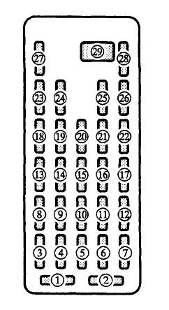 mazda millenia fuse box drivers side mazda millenia (2000) fuse box diagram auto genius