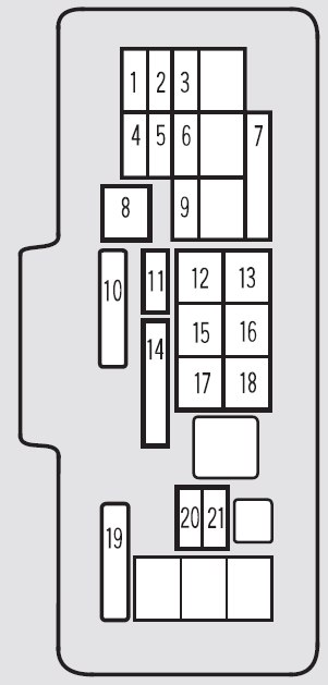 acura tl 2001 fuse box diagram auto genius. Black Bedroom Furniture Sets. Home Design Ideas
