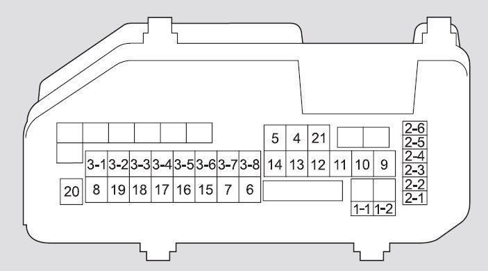 Acura Tsx  2010  - Fuse Box Diagram