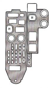 Lexus ES250 - fuse box - driver's side kick panel