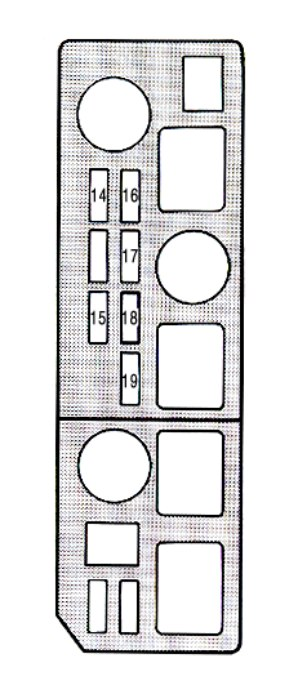 Lexus Es250  1990 - 1991  - Fuse Box Diagram