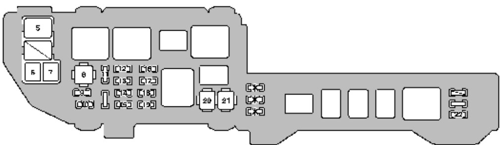 Lexus Es300  1998  - Fuse Box Diagram