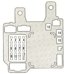 Lexus ES300 - fuse box - instrument panel