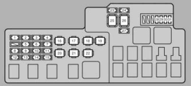 lexus es330 (2004 – 2006) – fuse box diagram