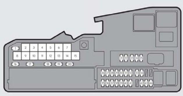 lexus es330  2014 2015  fuse box diagram auto genius