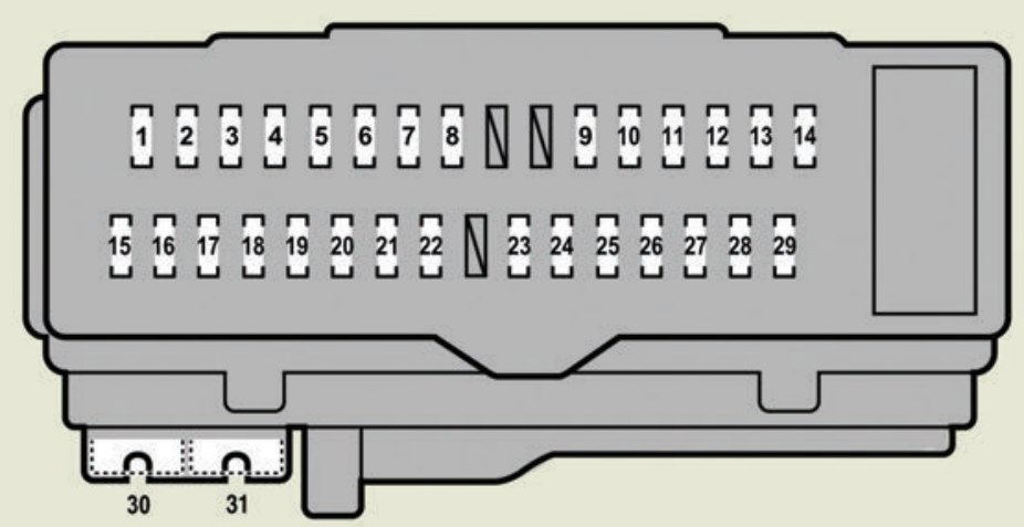 lexus es350 fuse box drivers side instrument panel 2007 lexus es350 (2010 2012) fuse box diagram auto genius  at fashall.co