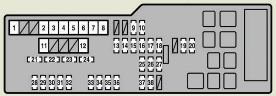 Lexus Es350  2007  - Fuse Box Diagram