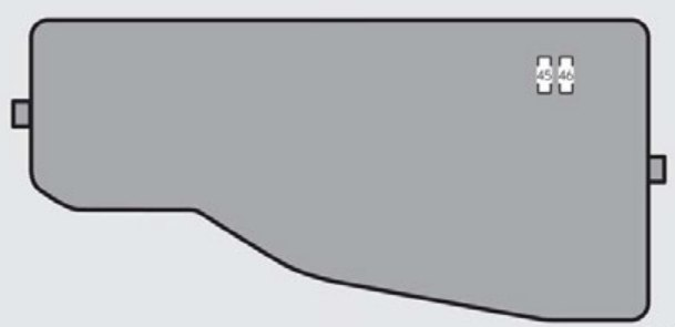 Lexus Es350  2013  - Fuse Box Diagram