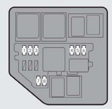 lexus es350 – fuse box – engine compartment (type b)