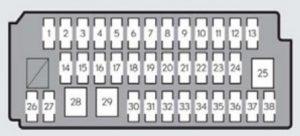 Lexus ES350 - fuse box -instrument panel