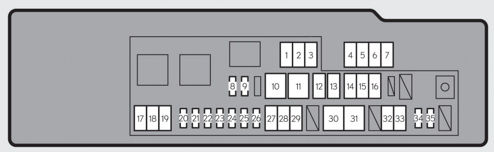 Lexus Gs250  2013 - 2015  - Fuse Box Diagram