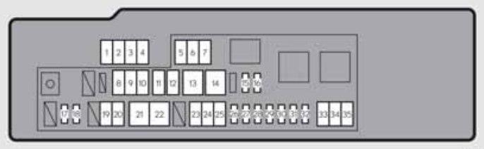 Lexus Gs250  2012  - Fuse Box Diagram