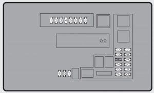 Lexus GS250 - fuse box - engine compartment type B