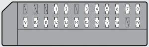 Lexus GS250 - fuse box - left side instrument panel (right-hand drive vehicle)