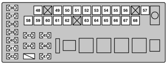 Lexus Gs300  2006  - Fuse Box Diagram