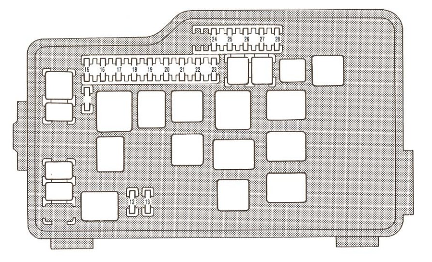 Lexus Gs300  1993 - 1995  - Fuse Box Diagram