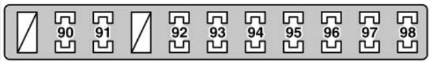 Lexus Gs430  2006  - Fuse Box Diagram