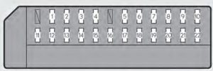 Lexus GS350 - fuse box - driver's instrument panel