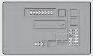 Lexus GS350 - fuse box -  engine compartment (type B)
